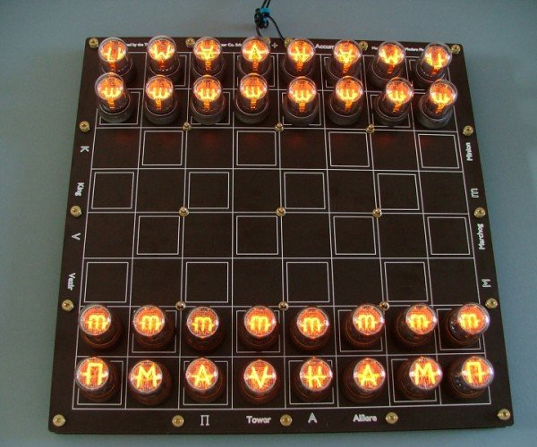 Nixie Tube Chess Set: Light Moves First