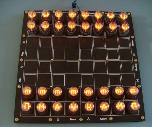 Nixie Tube Chess Set: Light Moves First