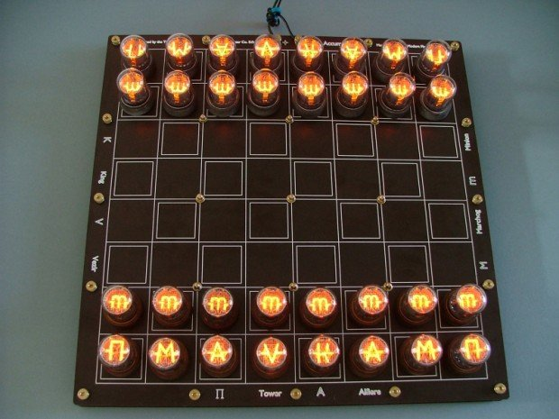 nixie tube chess set by lasermad 620x465