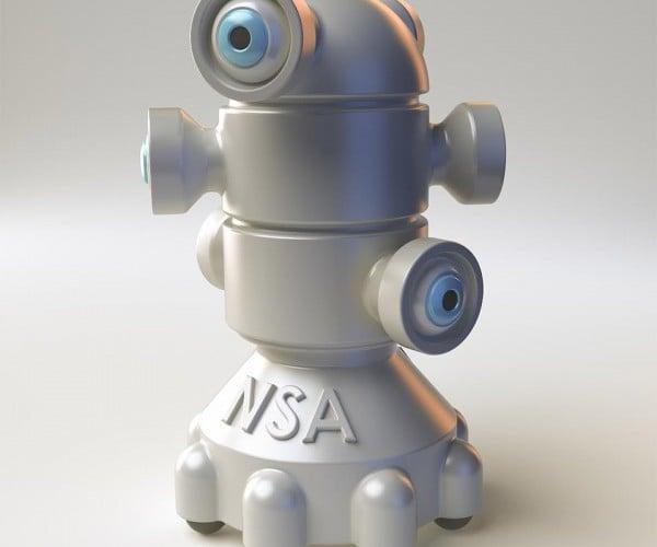 3D Printed NSA Spybot: I Always Feel Like Somebody's Watching Me