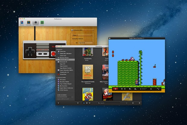 openemu mac os x video game emulator 620x413
