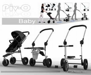 Convertible Piv-O Stroller Grows with Your Child