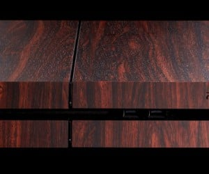 playstation 4 mahogany wood vinyl decal by dbrand 2 300x250