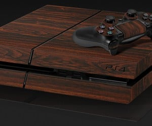 PS4 Mahogany Vinyl Skin: PlayStation 2600