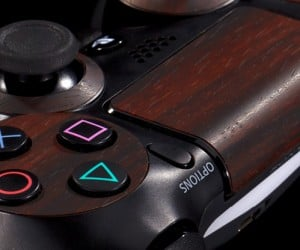 playstation 4 mahogany wood vinyl decal by dbrand 6 300x250