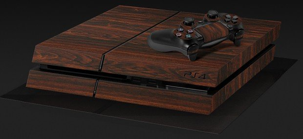playstation-4-mahogany-wood-vinyl-decal-by-dbrand
