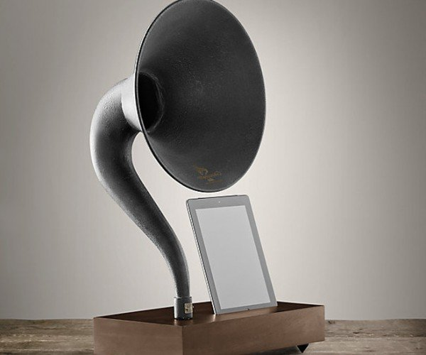 Restoration Hardware's Gramophone for iPad and iPhone: Retro Your iDevices