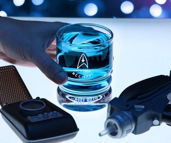 Star Trek USS Enterprise Glassware: To Boldly Drink