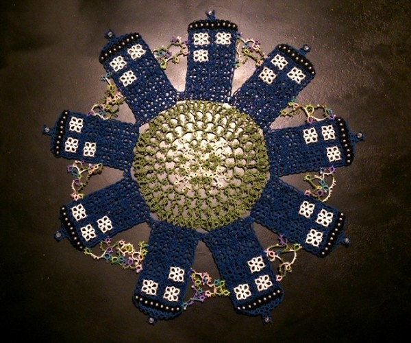 Handmade Lace TARDIS: Time and Relative Doilies in Space