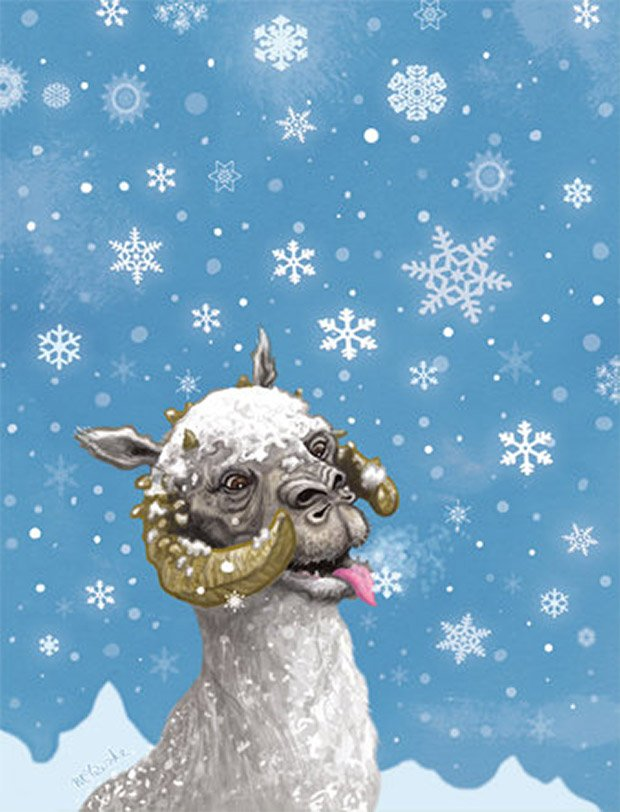 tauntaun christmas card