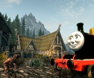 Skyrim Mod Turns Dragons into Thomas the Tank Engine