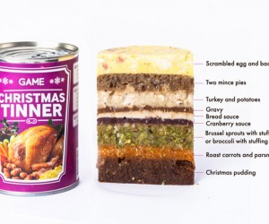 Christmas Tinner Puts an Entire Christmas Dinner into a Single Can