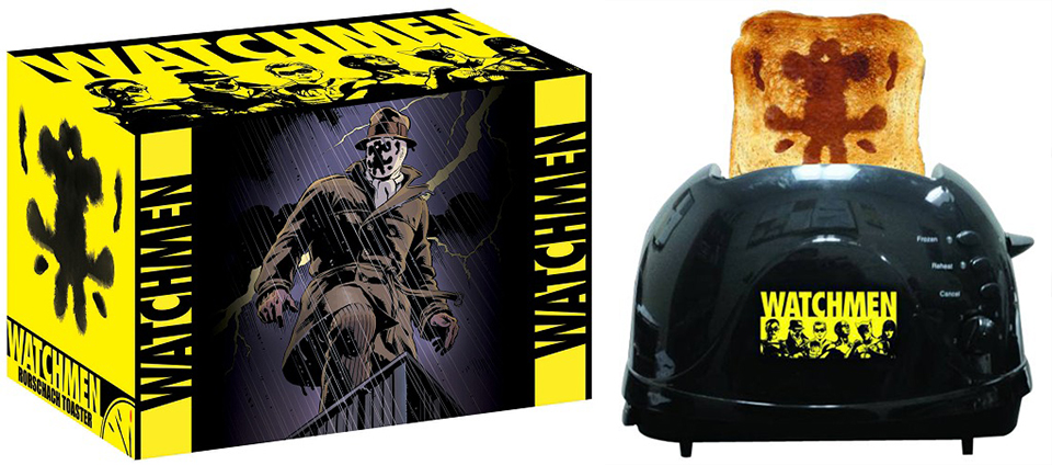 "Watchmen Rorschach Toaster: Bread Will Look up and Shout ""Save Us!"", and I'll Whisper, ""No."" - Technabob"