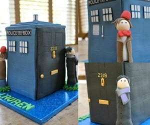 Doctor Who/Sherlock Gingerbread TARDIS: Merry Moffat