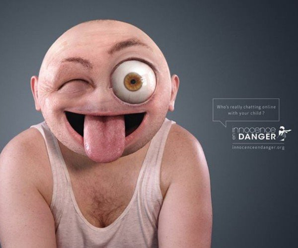 Creepy Real-Life Emojis Are Part of a Campaign to Protect Kids