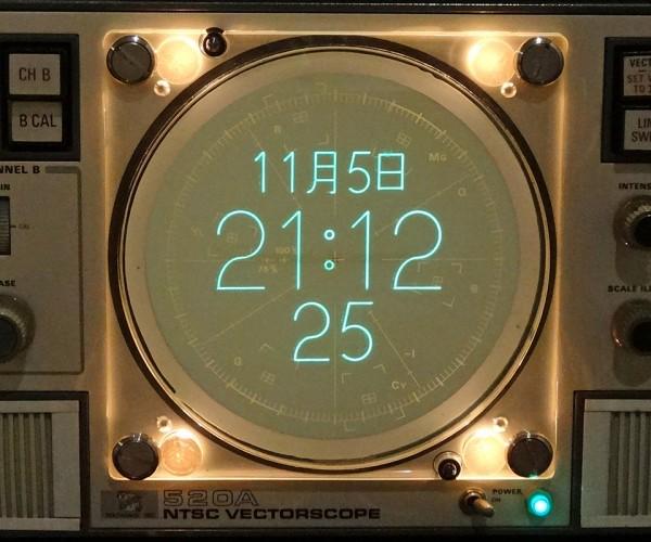 Vectorscope Clock Mod: from Chroma to Chronon