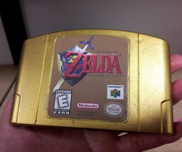 Zelda Gold Cartridge Soap: It's Dangerous to Bathe Alone, Take This