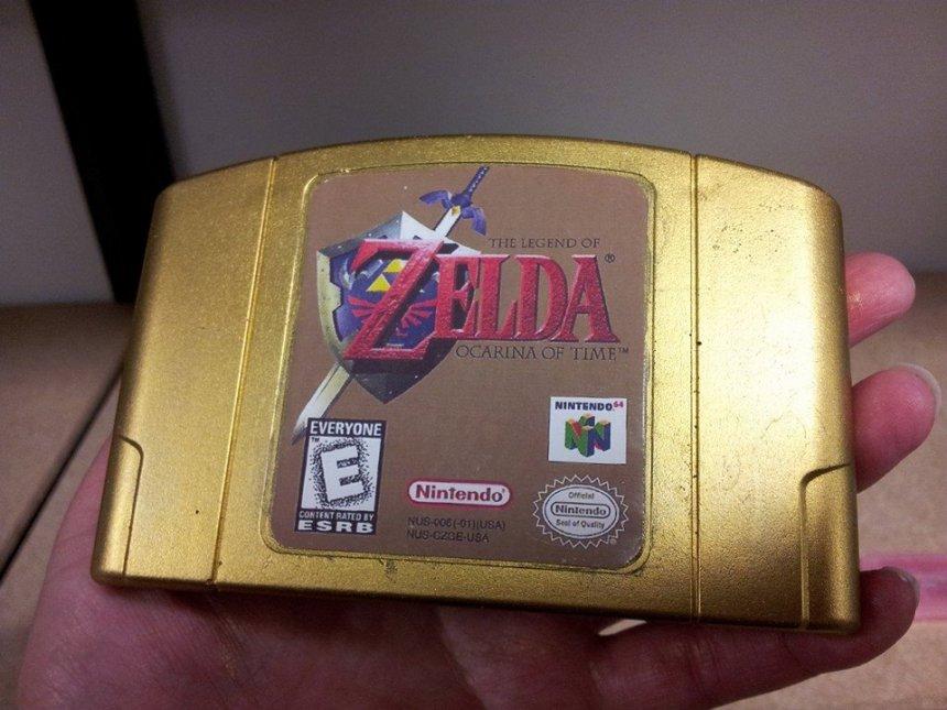 Zelda Gold Cartridge Soap: It's Dangerous to Bathe Alone, Take This