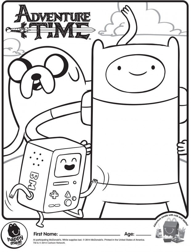 adventure time coloring 1 620x820
