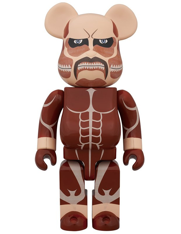 attack on titan shingeki no kyojin medicom bearbrick 400