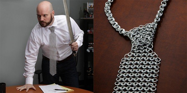 chainmail necktie from thinkgeek 620x310