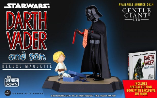 darth vader and son little princess book maquette by jeffrey brown 620x387