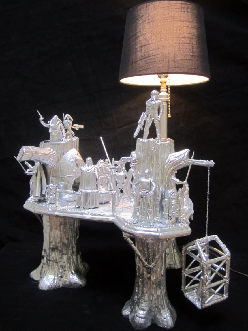 star wars ewok village lamp endor is shinier than i remember it technabob. Black Bedroom Furniture Sets. Home Design Ideas