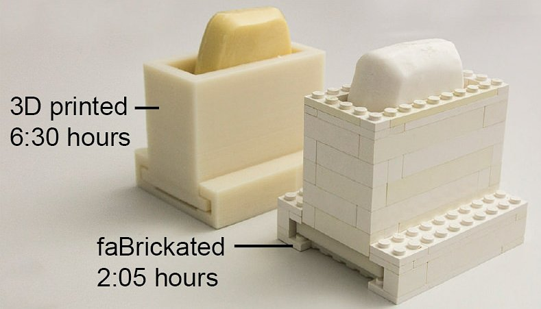 Making Prototypes with a 3D Printer & LEGO: faBrickation - Technabob