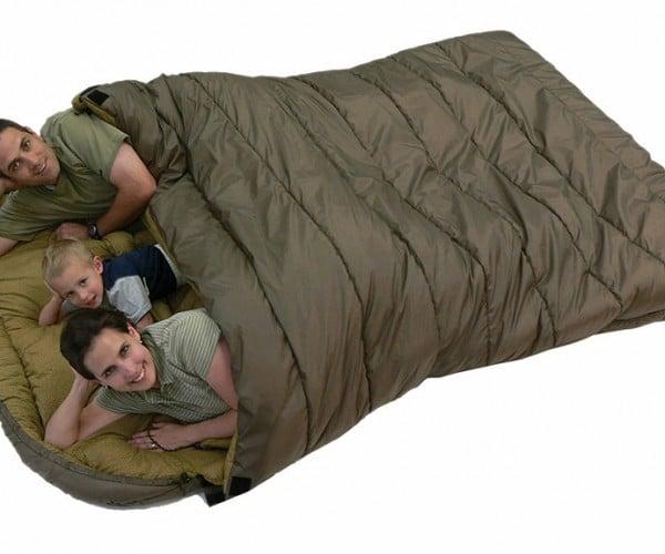 Family Size Sleeping Bag Doubles As Jumbo-Sized Dutch Oven