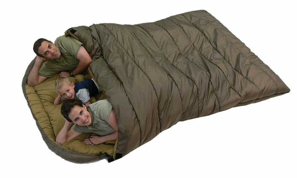 Family Size Sleeping Bag Doubles As Jumbo Sized Dutch Oven