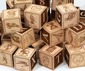 Awesome Dad Makes Geeky Alphabet Blocks for His Son