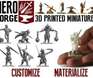 Hero Forge Tabletop Miniature 3D Printing Service: Character Creation Tool