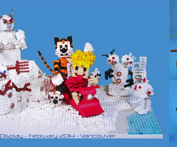 LEGO Calvin and Hobbes Has Evil Snowmen