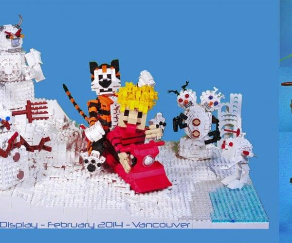 LEGO Calvin and Hobbes Has Evil Snowmen