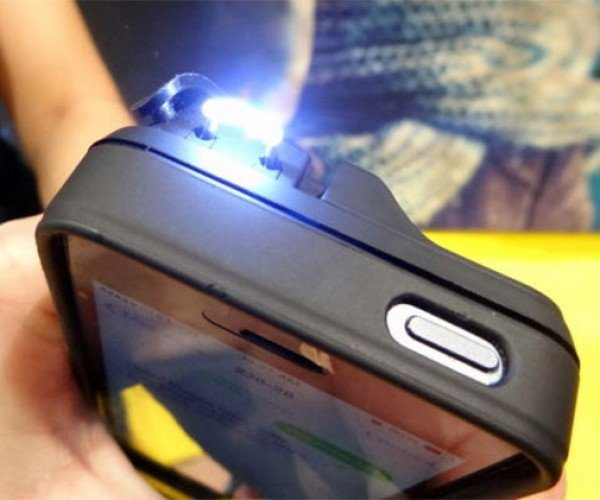 Yellow Jacket iPhone 5/5S Stun Gun Case Zaps CES
