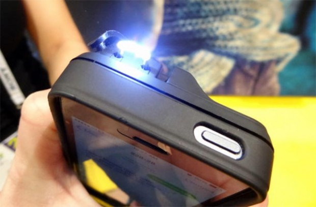 iphone 5 yellow jacket stun gun case 620x407
