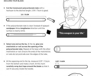 This Infographic Teaches You to Build a Lightsaber