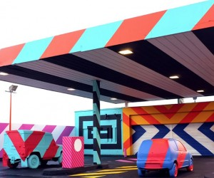 Abandoned Gas Station in Ireland Gets Turned into Street Art Installation