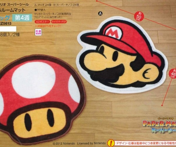 Roll out the Red Carpet with These Paper Mario and Toad Rugs