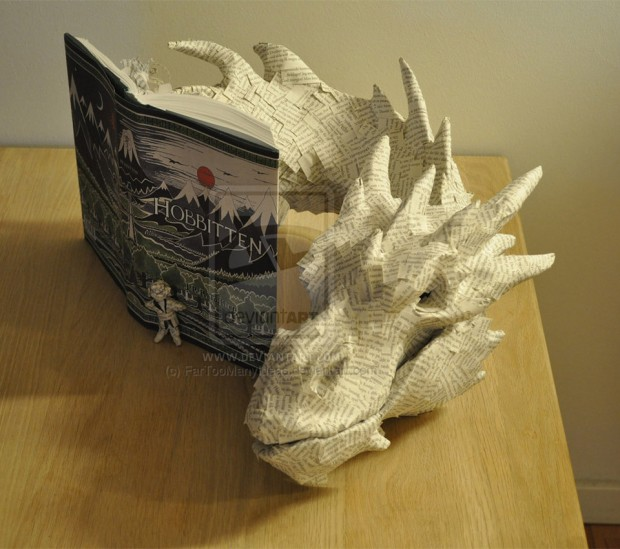 Papercraft Smaug Made From The Hobbit Book