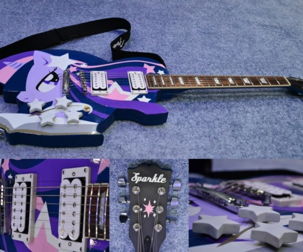 My Little Pony Guitar is a Twilight Sparklecaster
