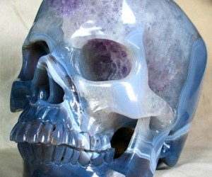 Carved Geode Skull Looks Straight out of Indiana Jones