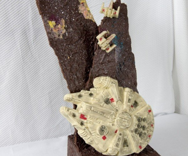 Star Wars Chocolate Centerpiece: The Dessert that Made the Kessel Run in 12 Parsecs
