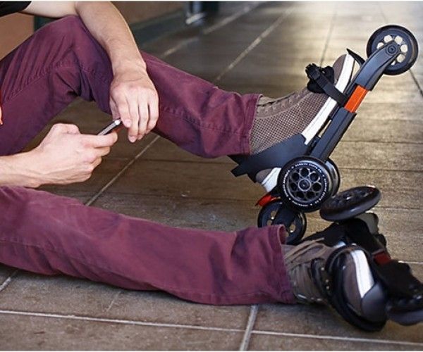 Cardiff Strap-on Roller Skates Are like Having a Big Wheel on Each Foot