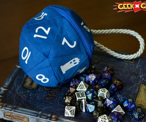 TARDIS D20 Bag: Dicier on the Inside