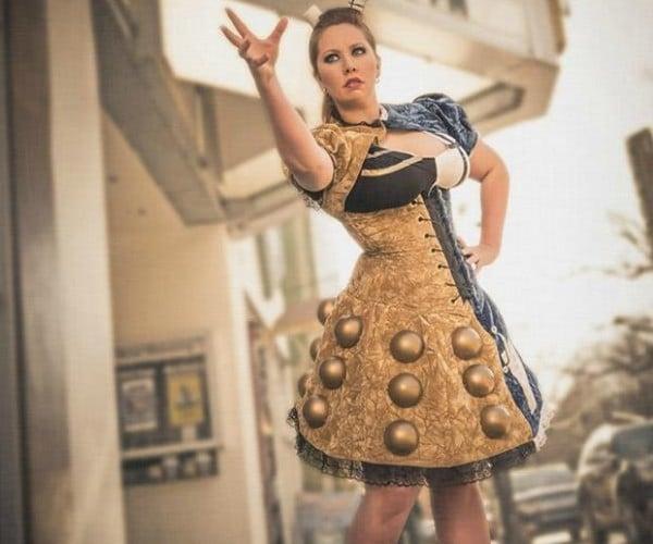 Half TARDIS, Half Dalek Dress Is All Awesome