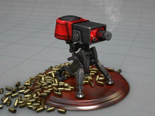 team fortress 2 sentry gun turret 3d print by jeff wong 2 620x465