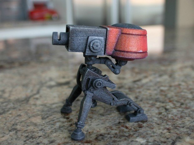 team fortress 2 sentry gun turret 3d print by jeff wong 3 620x465