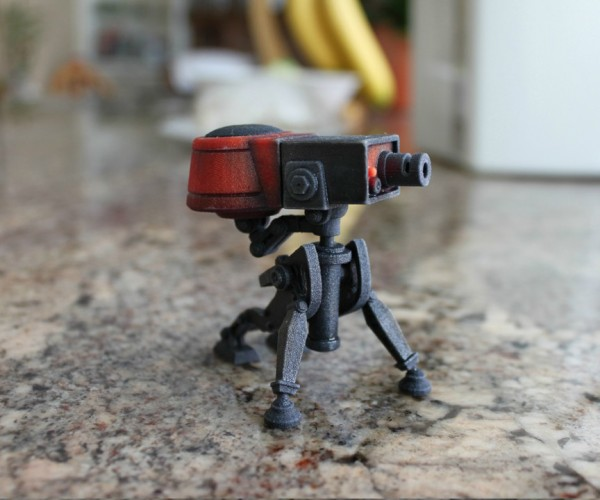 Team Fortress 2 Sentry Gun Miniature: Ain't That a Cute Little Gun?