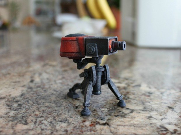 team fortress 2 sentry gun turret 3d print by jeff wong 620x465